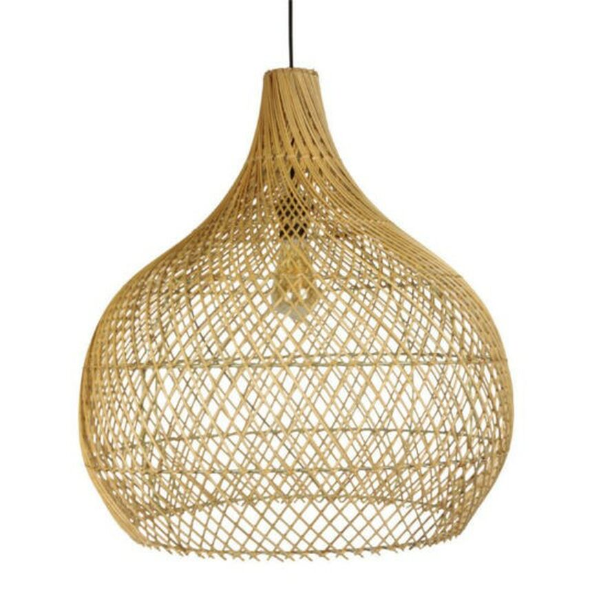Verlichting te huur - rattan hanglamp - stretched.be