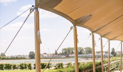 stretched- sailcloth- trouwtent - bohemian tent